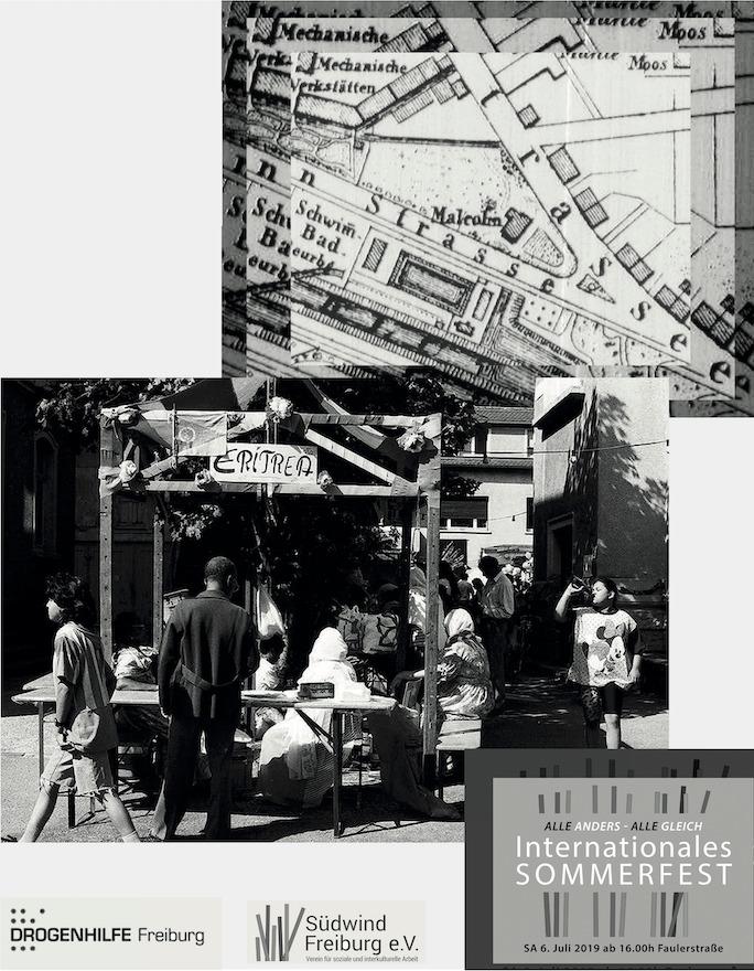 Collage aus historischen Bildern und Dokumenten zur Faulerstraße 8.