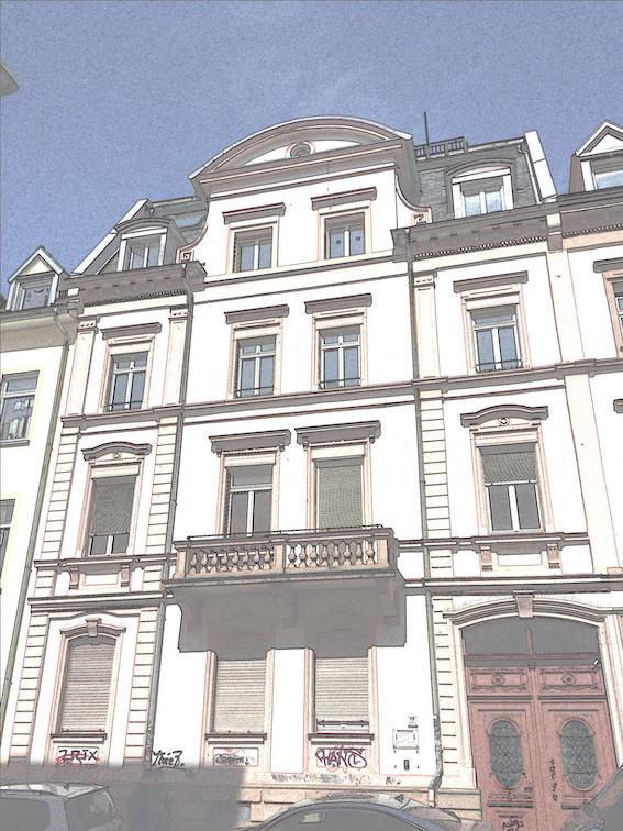 Aktuelles Foto des Hauses Belfortstraße 17.